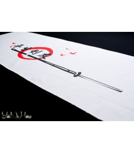 Tenugui Kendo | Tomodachi | White