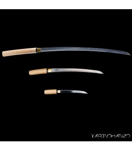 Shirasaya tris | Shirasaya + Wakizashi + Tanto | Handmade Katana Sword |